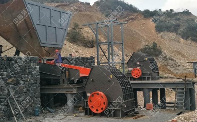 时产500吨石料厂粉碎机及现场图片