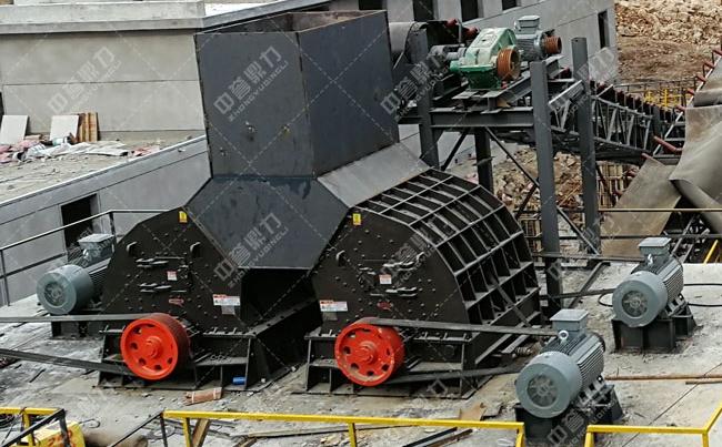 时产1000吨大型石子粉碎机在山东投产