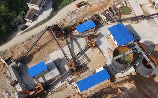 时产1000吨锤式粉碎机制砂生产线流程