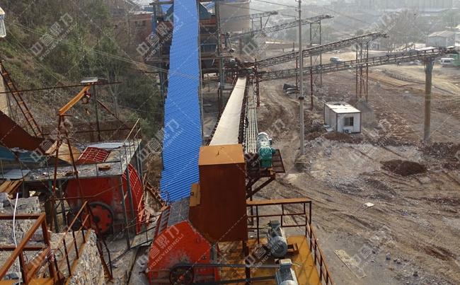 湖北砂石粉碎现场实拍,时产吨600吨